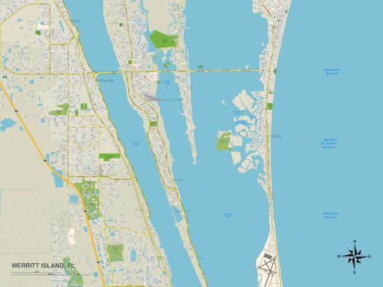 Where Is Merritt Island Florida On The Map.Political Map Of Merritt Island Fl Posters At Allposters Com