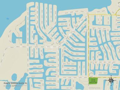 Political Map of Punta Gorda Isles, FL