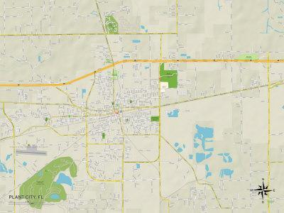 Political Map of Plant City, FL