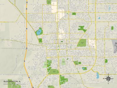 Political Map of Bloomington, IL