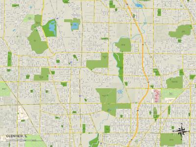 Political Map of Glenview, IL