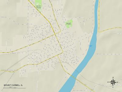 Political Map of Mount Carmel, IL