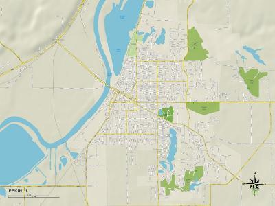 Political Map of Pekin, IL