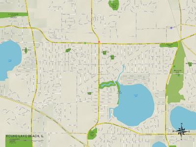 Political Map of Round Lake Beach, IL