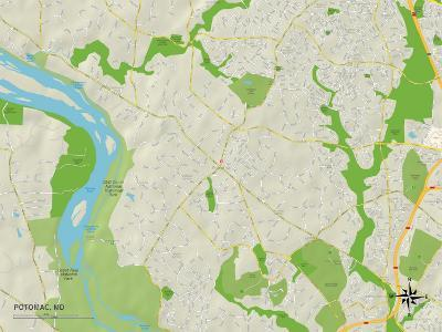 Political Map of Potomac, MD