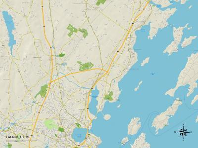 Political Map of Falmouth, ME