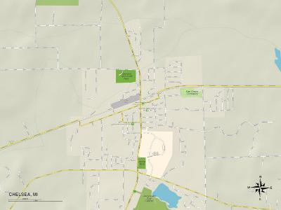 Political Map of Chelsea, MI