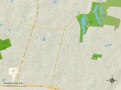 Political Map of Spanish Lake, MO