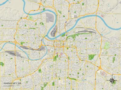Political Map of Kansas City, MO