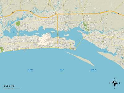 Political Map of Biloxi, MS