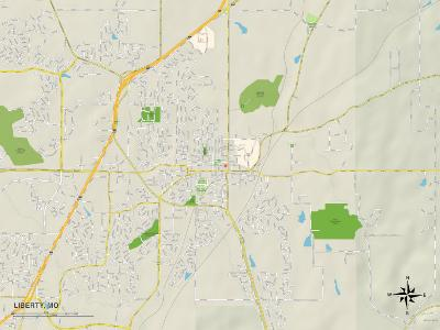 Political Map of Liberty, MO
