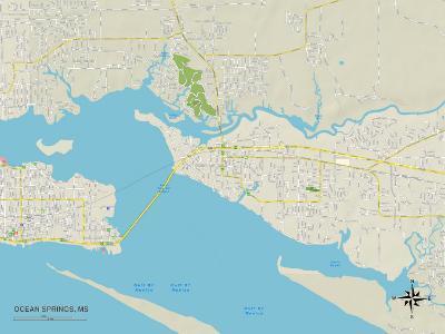 Political Map of Ocean Springs, MS