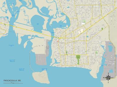 Political Map of Pascagoula, MS