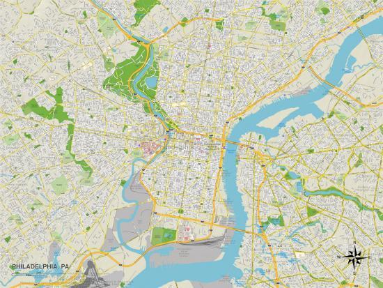 Political Map of Philadelphia, PA