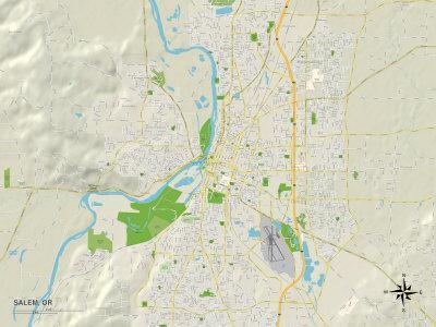 Political Map of Salem, OR