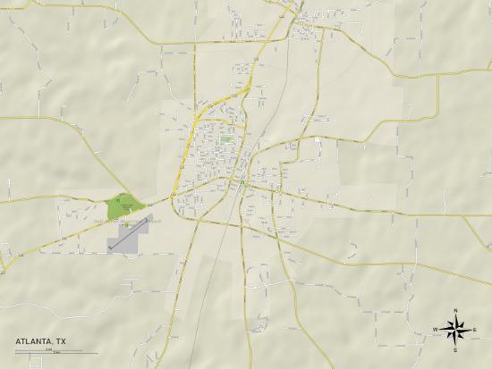 Atlanta Political Map.Political Map Of Atlanta Tx Art At Allposters Com