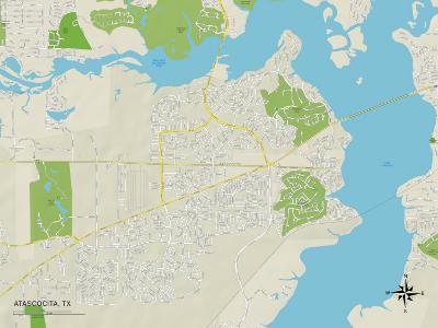 Political Map of Atascocita, TX