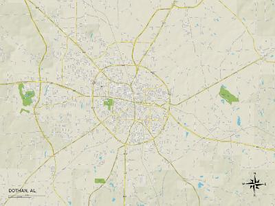 Political Map of Dothan, AL