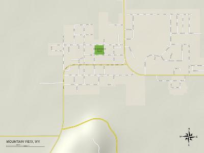 Political Map of Mountain View, WY