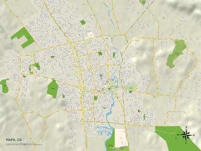 Political Map of Napa, CA