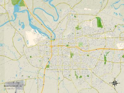 Political Map of Montgomery, AL