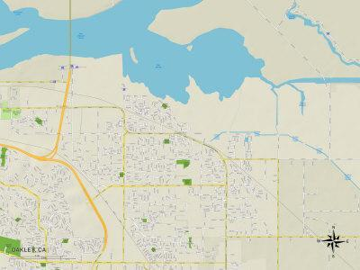 Political Map of Oakley, CA