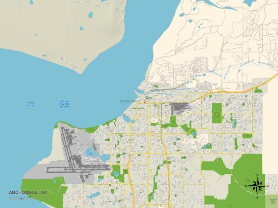 Political Map of Anchorage, AK