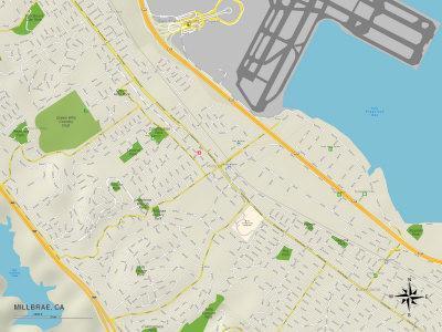 Political Map of Millbrae, CA