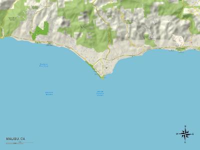 Political Map of Malibu, CA