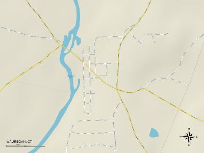 Political Map of Wauregan, CT