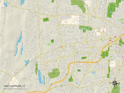 Political Map of West Hartford, CT