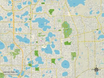 Political Map of Winter Park, FL