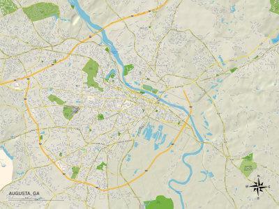 Political Map of Augusta, GA