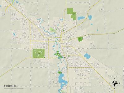 Political Map of Goshen, IN