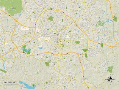 Political Map Of Raleigh Nc Art At Allposterscom - Raleigh-nc-on-us-map