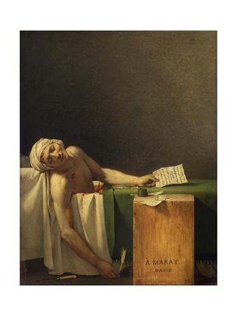 Marat Assassinated (The Death of Marat) by Jacques-Louis David