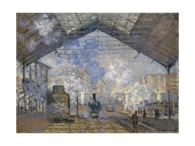 The Saint-Lazare Station by Claude Monet