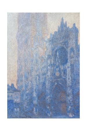 Rouen Cathedral Fa§Ade and Tour D'albane (Morning Effect) by Claude Monet