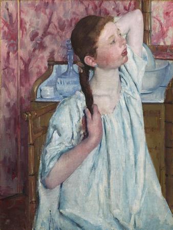 Girl Arranging Her Hair, by Mary Cassatt
