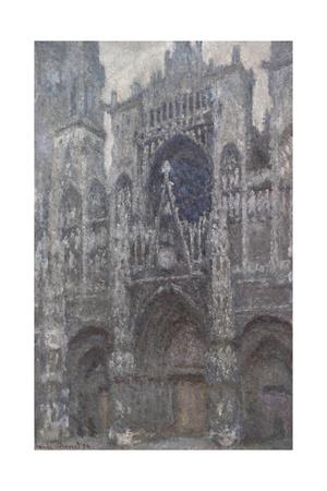 Rouen Cathedral, Portal, Grey Weather by Claude Monet