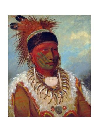 White Cloud, Head Chief of the Iowas by George Catlin