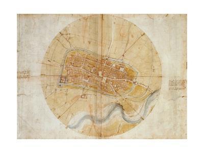 Plan of Imola by Leonardo Da Vinci