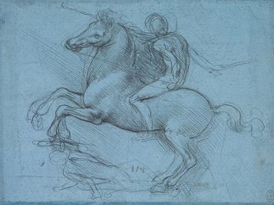 Study for an Equestrian Monument, Recto, by Leonardo Da Vinci