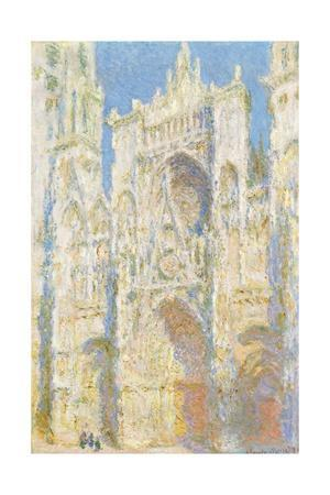 Rouen Cathedral, West Fa§Ade, Sunlight by Claude Monet