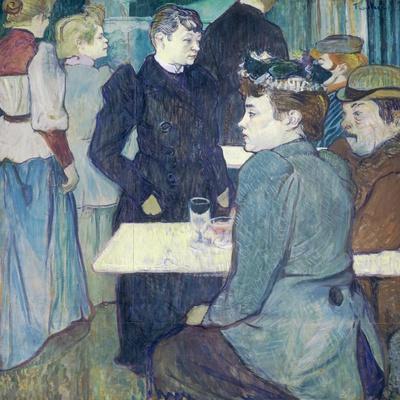 A Corner of the Moulin De La Galette by Henri De Toulouse-Lautrec