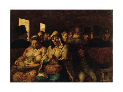 The Third-Class Carriage by Honoré Daumier