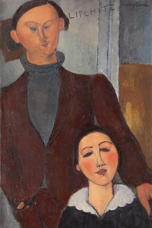 Jacques and Berthe Lipchitz by Amedeo Modigliani