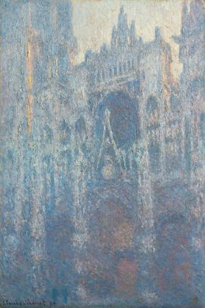 Rouen Cathedral, West Fa§Ade in Morning Light, by Claude Monet
