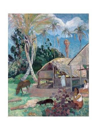 The Black Pigs by Paul Gauguin
