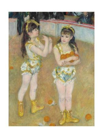 Acrobats at the Cirque Fernando (Francisca and Angelina Wartenberg) by Pierre-Auguste Renoir